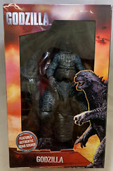 Neca 2014 Godzilla Monster 24 Head To Tail 12 Tall Deluxe Figure Roaring Sound