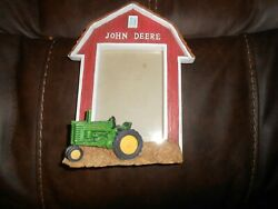 John Deere Resin Picture Frame Barn With Tractor