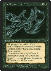 The Abyss Legends Nm Black Rare Reserved List Magic Gathering Card Abugames