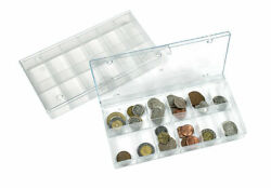 5 Lindner 4822 Collection Boxes Clear Presentation Box 7 15/32x3