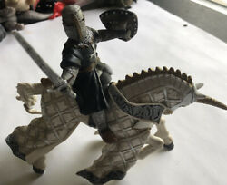 Papo 2006 Medieval Castle Knights Unicorn Horse White And Silver Schleich