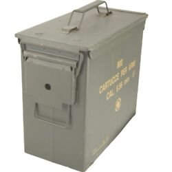 Nato Military Army Issued 5.56mm Ammo Box Metal Storage Container Tool