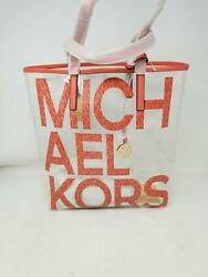 MICHAEL Michael Kors The Michael Bag Large Tote Pink Grapefruit Multi One Size $89.99