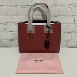 Kate Spade Margaux Large Satchel Purse Red Jasper Dust Bag Retired New With Tags