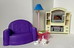 Gloria Doll House Furniture My Fancy Life Living Room Play Set + Extras- No Box