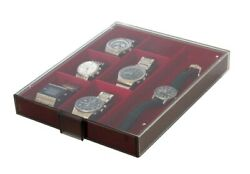 Lindner 2403 Clock Box Standard Light Red For Watches Unisex