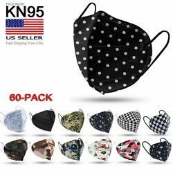 [100 Pack] Kn95 Protective 5 Layer Face Mask Bfe 95 Pm2.5 Disposable Respirator