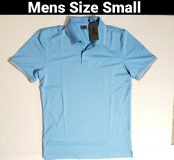 G Fore Core Tipped Polo Shirt Sky Blue Size Small Men#x27;s $49.99