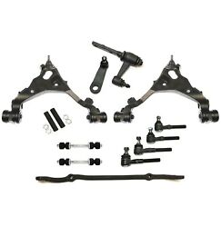 13 Pc Control Arm Tierod Pitman Idler For Ford F-150 Expedition Navigator 4wd