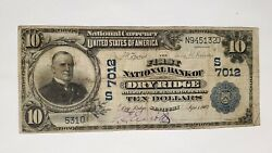 1902 10 First National Bank Of Dry Ridge Kentucky Ky Ch7012 Nice Rare