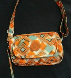Kipling Mini Crossbody Bag Multi-color Nylon 3 Zipper Sectionsgreat Condition