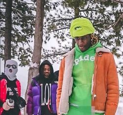 Young Thug Spider Worldwide Og Slime Green And Sparkles Web Hoodie Size Large