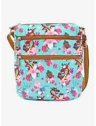Disney Loungefly Mulan Mushu Cherry Blossoms Passport Crossbody Purse Bag NWT $29.95