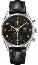 Tag Heuer Carrera 1887 Car2014.fc6235 Automatic Rose Gold Black Leather Watch