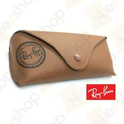 Rayban Sunglasses Eyeglasses Soft Leather Brown Case w Cleaning Cloth amp; GiftBox $8.99