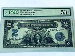 1899 2 Silver Certificate - Pmg 53epq About Uncirculated - Fr. 255