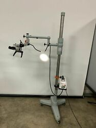 Carl Zeiss Opmi 1-fc Microscope T F170 W/ Stand And Mark Ii Light Source
