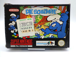 Nintendo Snes Game - The Smurfs Boxed / Without Instructions Pal 11172574