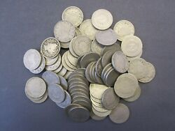Roll Of 40 Liberty V Nickels Incl.1883/other 1800and039s And 1900and039s Avg. Circ.