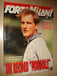 Rare Book Forza Milan Amici Against Year Xxvi Nanddeg3 March 1994 + Poster Desailly