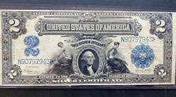 """1899 2 Two Dollars """"mini Porthole"""" Silver Certificate Fr 258"""
