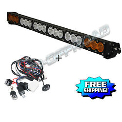 33inch 180w Cree 10w Leds Light Bar Driving Offroad Truck Amber White Strobe 32