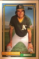Rare Vintage Mint Condition Tony Larussa Topps 1992 429 Manager Baseball Card