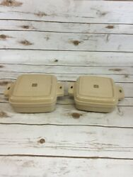 Littonware Microwave Cookware 39272 And 39275 2, 39276 W/ Lids 8 Pieces