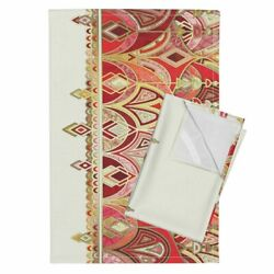 Baroque Eastern Micklyn Art Deco Linen Cotton Tea Towels By Roostery Set Of 2