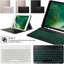 Us For Ipad 8th Generation 10.2 2020 Bluetooth Keyboard Leather Smart Case Cover
