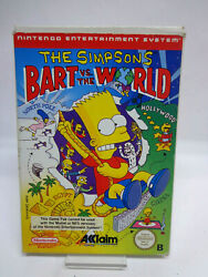 Nintendo Nes Game - The Simpsons Bart Vs The World Boxed Pal 11231264