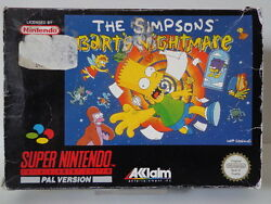 Snes Game - The Simpsons Bart ´s Nightmare Boxed Pal 10632604