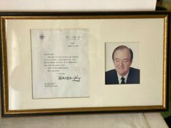 Hubert H Humphrey Letter Signed As Vice President W/ His Seal 1967 Autographed