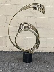 Windswept Sculpture By Curtis Jere On Marble Base Signed And Dated