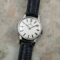 Omega Platinum Round Case Original Dial Manual Vintage Womenand039s Watch 1962and039s Rare