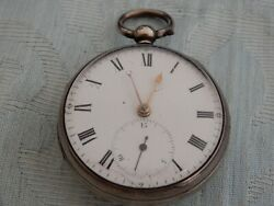 1800and039s Liverpool Racklever Fusee Pocket Watch Joseph Michael Old Estate Find