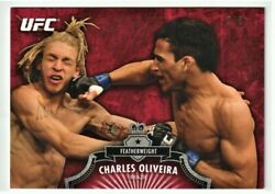 8/8 Charles Oliveira 2012 Topps Ufc Bloodlines Ruby Red Parallel Champion