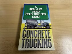 Concrete Trucking - Video Field Trip Vhs 1994 New Sealed - Rare Kids Tape