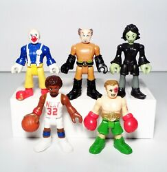 Imaginext Blind Bag Series 4 Lot 5 Clown Mad Scientist Witch Basketball Figures