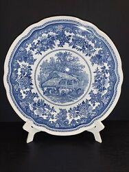 Spode Blue Room Collection Milking Time 10 1/2 Dinner Plate. England.