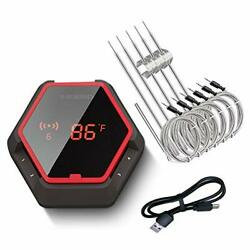 Grill Bluetooth Bbq Thermometer Wireless 6 Probes Digital Smoker Grill Free Ship