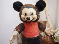 Do33 Vintage Rubberfies Mickey Mouse Vi538 Disney Doll Plush Toy