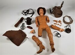 Marx 1973 Johnny West 11-1/2 Cowboy Action Figure - For Parts With Extras