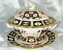 Royal Crown Derby Bone China England Soup Tureen With Underplaterarerare