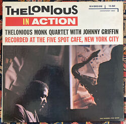 Thelonious Monk In Action Lp Riverside Dg Mono Small Labels Johnny Griffin