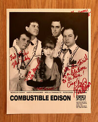 Combustible Edison 8 X 10 Promotional Press Photo Signed In-person