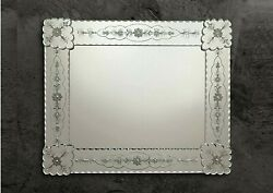 Mirror In Murano Glass Handmade And Designed By Hand With Silver Cast In Italy