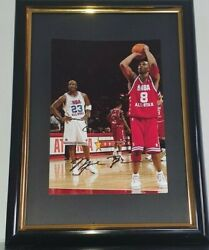 Hand Signed Michael Jordan And Kobe Bryant - With Coa - 8x10 Framed Authentic