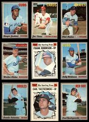 1970 O-pee-chee Baseball Partial Complete Set 6 - Ex/mt