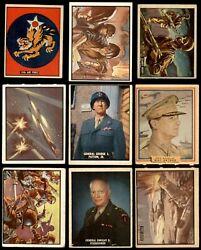 1950 Topps Freedomand039s War Complete Set 4 - Vg/ex